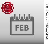 calendar february vector icon...