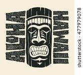 aloha hawaii. hand lettering... | Shutterstock .eps vector #477979078