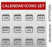 calendar months icons set... | Shutterstock .eps vector #477979324