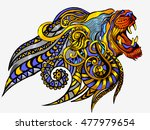 illustration leo astrological... | Shutterstock .eps vector #477979654