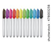 set of realistic marker pens... | Shutterstock .eps vector #478003258