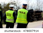 polish traffic police and... | Shutterstock . vector #478007914