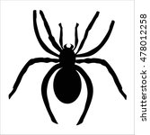 Icon Black Spider. Icon Black...