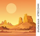 landscape of the desert. vector ...