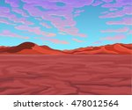 landscape of the desert. vector ... | Shutterstock .eps vector #478012564