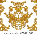 vintage baroque floral seamless ... | Shutterstock .eps vector #478021888