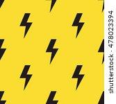black lightning bolts on yellow ... | Shutterstock .eps vector #478023394