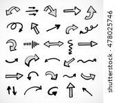 hand drawn arrows  vector set | Shutterstock .eps vector #478025746