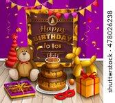 happy birthday greeting card.... | Shutterstock .eps vector #478026238