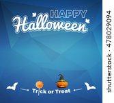 illustration happy halloween... | Shutterstock .eps vector #478029094