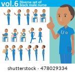 diverse set of black male nurse ...   Shutterstock .eps vector #478029334