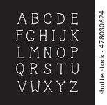 vector modern hand written... | Shutterstock .eps vector #478030624