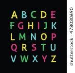 vector modern hand written... | Shutterstock .eps vector #478030690