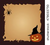 halloween border for design... | Shutterstock .eps vector #478033750