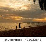 pataya sunset on the beach. the ... | Shutterstock . vector #478033843