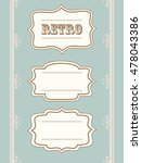 retro  vintage  collection of... | Shutterstock .eps vector #478043386