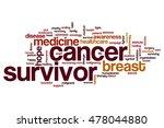 cancer survivor word cloud...   Shutterstock . vector #478044880