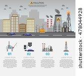 ecology infographic vector... | Shutterstock .eps vector #478044928