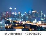 abstract blurred bokeh lights ... | Shutterstock . vector #478046350