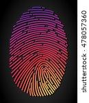 fingerprint | Shutterstock .eps vector #478057360
