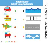 match transport with roads... | Shutterstock .eps vector #478057414