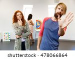 young artists in gallery... | Shutterstock . vector #478066864