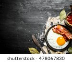 breakfast in the morning. beans ... | Shutterstock . vector #478067830