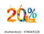 20  twenty  percents sale....   Shutterstock .eps vector #478069228