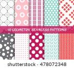 vector geometric seamless dot... | Shutterstock .eps vector #478072348
