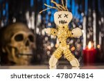 Voodoo Doll With Skull And...
