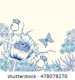vector floral background with... | Shutterstock .eps vector #478078270