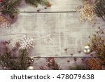 festive christmas background.... | Shutterstock . vector #478079638