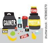 sport food nutrition objects... | Shutterstock .eps vector #478080370