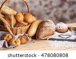 Lots Of Fresh Bread In A Baske...