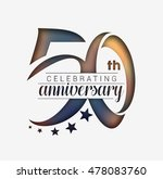 50th years anniversary... | Shutterstock .eps vector #478083760