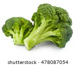 fresh broccoli isolated on... | Shutterstock . vector #478087054