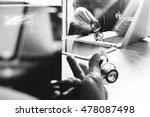 medical technology network team ... | Shutterstock . vector #478087498
