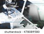medical technology network team ... | Shutterstock . vector #478089580