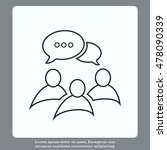 group of people icon  friends... | Shutterstock .eps vector #478090339