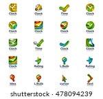 vector set of abstract unusual... | Shutterstock .eps vector #478094239
