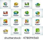 vector set of abstract unusual... | Shutterstock .eps vector #478094560