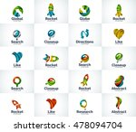 vector set of abstract unusual... | Shutterstock .eps vector #478094704