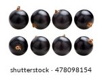 Black Currants. Ripe Juicy...