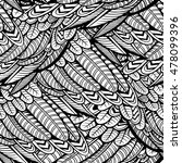 vector black and white feather... | Shutterstock .eps vector #478099396
