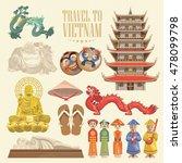travel to vietnam. set of... | Shutterstock .eps vector #478099798