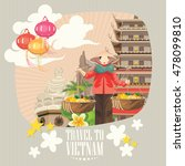 travel to vietnam. set of... | Shutterstock .eps vector #478099810
