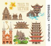 travel to vietnam. set of... | Shutterstock .eps vector #478099888