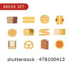 set of flat color icons. bread  ... | Shutterstock .eps vector #478100413
