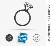 ring sign icon. jewelry with... | Shutterstock .eps vector #478108420