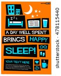 a day well spent brings happy... | Shutterstock .eps vector #478115440